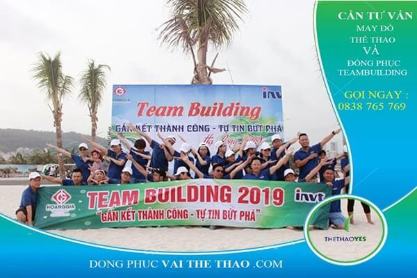 áo thun công ty chơi team building hay 2020