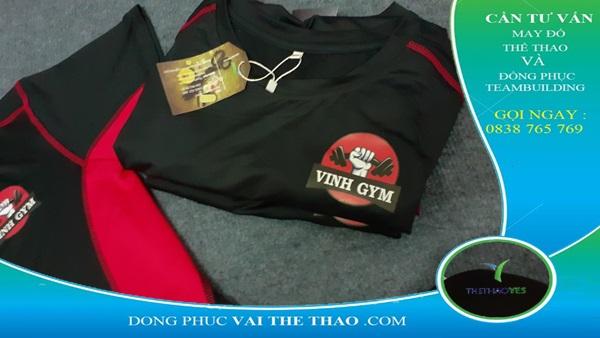 may áo đồng phục gym
