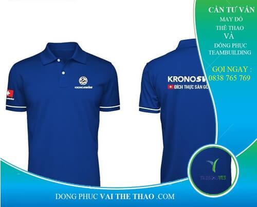 áo phông đồng phục màu xanh