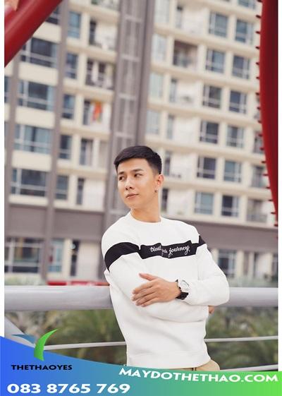 áo thun trắng tay dài nam