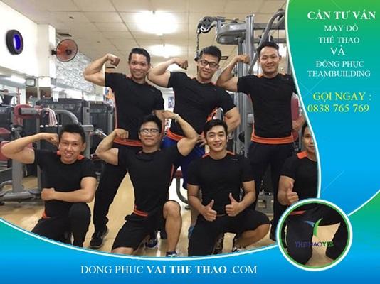may áo thun đồng phục tập gym