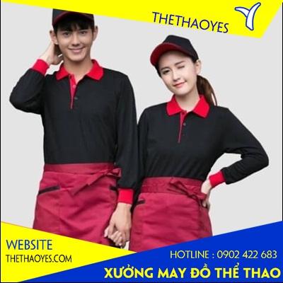 đồng phục đầu bếp vải thể thao