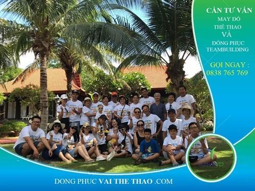may áo thun team  building