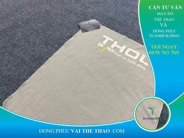 May khăn lạnh thể thao in ấn logo theo yêu cầu Cần Giờ