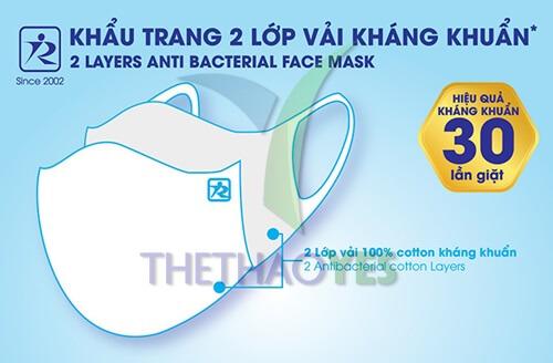 khẩu trang vải kháng khuẩn size lớn