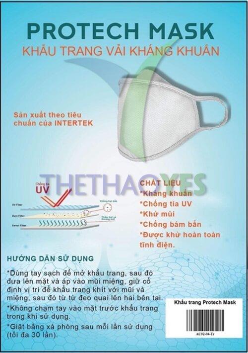 khẩu trang vải kháng khuẩn 2019