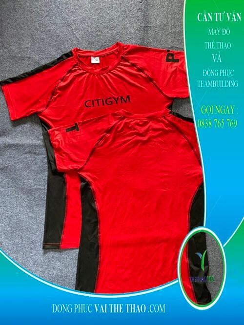 Nhận may áo thun đồng phục tập gym